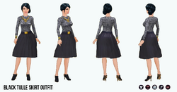 NewYearNewYou - Black Tulle Skirt Outfit