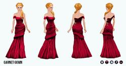 JewelTone - Garnet Gown