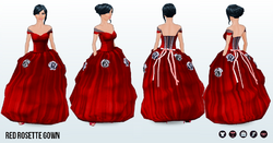SantaBaby - Red Rosette Gown