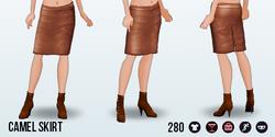 SohoChicSpin - Camel Skirt