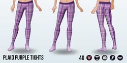 Urbanite - Plaid Purple Tights