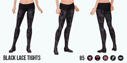Armada - Black Lace Tights