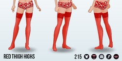Coquette - Red Thigh Highs