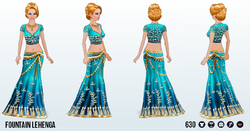 ArabianNights - Fountain Lehenga