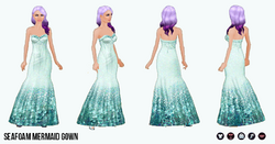 MermaidClothing - Seafoam Mermaid Gown