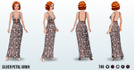 MovieStar - Silver Petal Gown