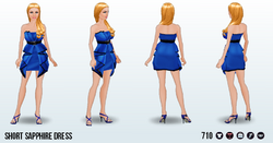 WorldHelloDay - Short Sapphire Dress