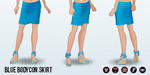 RoadTrip - Blue Bodycon Skirt