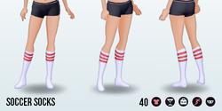 Athena - Soccer Socks red