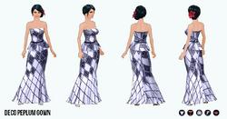 OdeToOscar - Deco Peplum Gown