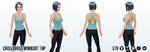 DitchYourResolutionsDay - Criss Cross Workout Top