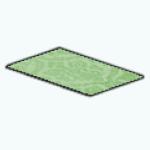 CafeRaffle - Green Filigree Rug