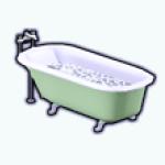CafeRaffle - Mint Clawfoot Bathtub