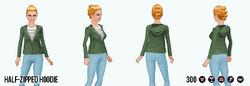 ChillyEssentialsSpin - Half-Zipped Hoodie green