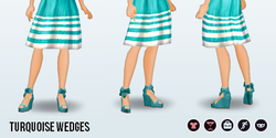 Career - Turquoise Wedges