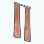 HoneymoonSpreeSpin - Pink Floral Curtains