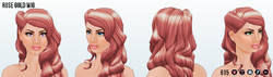 FrostyNightSpin - Rose Gold Wig