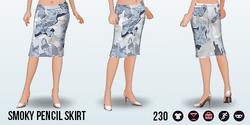 RoseQuartzAndSerenity - Smoky Pencil Skirt