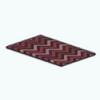 CafeRaffle - Red Chevron Rug