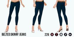 VineyardHarvestSpin - Belted Skinny Jeans blue