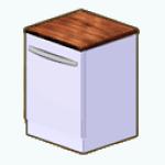 WhiteKitchenDecor - White Dishwasher