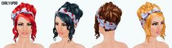 RedAndBlack - Curly Updo
