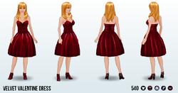 GirlInRedClothing - Velvet Valentine Dress