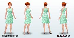 Summer - Chevron Sun Dress