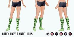 Charade - Green Argyle Knee-Highs
