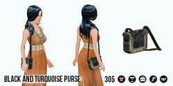 WesternWoman - Black and Turquoise Purse