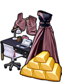 GoldDeal - 150710 - Marsala Gown and Heels - Chic Black Desk