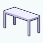 CafeRaffle - Preppy Dining Table