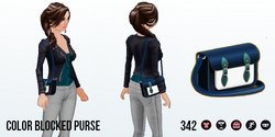 JewelSpin - Color Blocked Purse