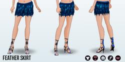 NewYearNewYou - Feather Skirt
