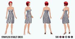 60sStarlet - Strapless Starlet Dress
