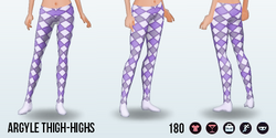 JugglingDay - Argyle Thigh-Highs