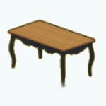 EnglishRoseSpin - Cottage Dining Table black
