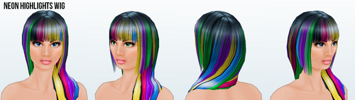 DareDay - Neon Highlights Wig