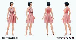 OdeToAudrey - Dainty Rose Dress