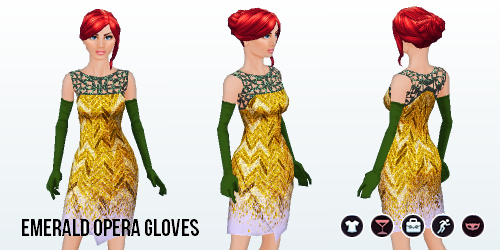 ChristmasCheer - Emerald Opera Gloves