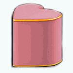 TheVault - Pink Heart Ottoman