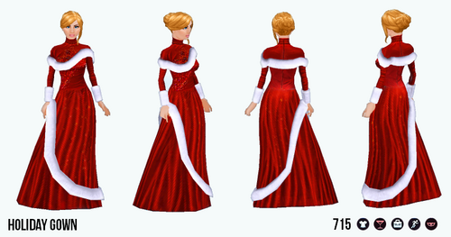 HolidayFunSpin - Holiday Gown