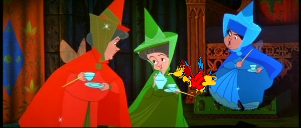 File:Flora, Fauna and Merryweather Iago tea party disney crossover.jpg