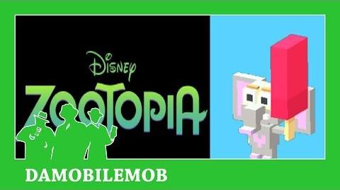 ★ DISNEY CROSSY ROAD Secret Characters - ELEPHANT FINNICK UNLOCK (ZOOTOPIA) (iOS, Android Gameplay)