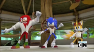 SB Sonic Tails and Knuckles Dance Practice