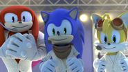 SB Knuckles Sonic and Tails Smiles Together