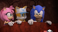 Amy Tails Sonic spying