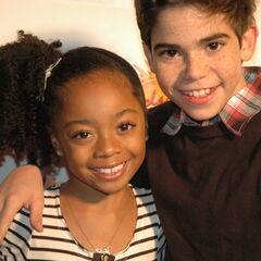 Skai Jackson and Cameron Boyce