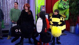 Jessie, Zuri, and Ravi as Snugglebugs