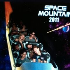 Cast at Space Mountain on 2011!